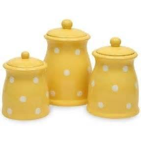 yellow kitchen storage jars yellow canister set foter 1694