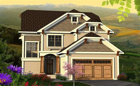 Clipped Gable Craftsman Home Plan   89956AH