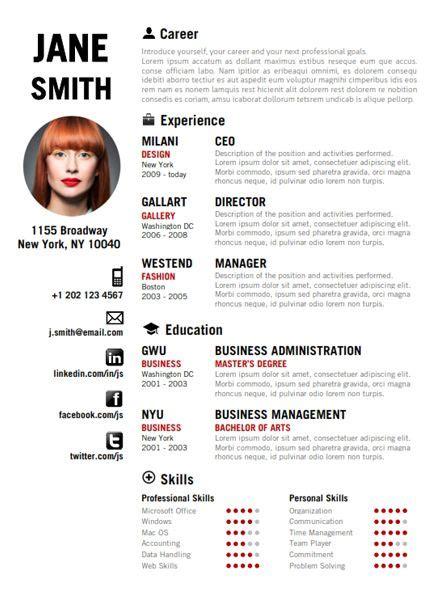 find  red creative resume template  wwwcvfoliocom