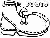 Boots Coloring Pages Colorings Print sketch template