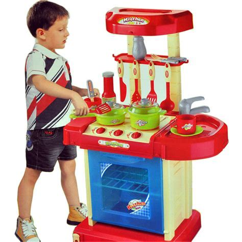 Portable Electronic Children Kids Kitchen Cooking Boy Toy