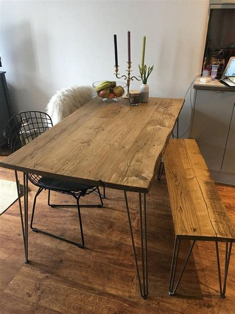 reclaimed dining table  black hairpinschoice  sizes