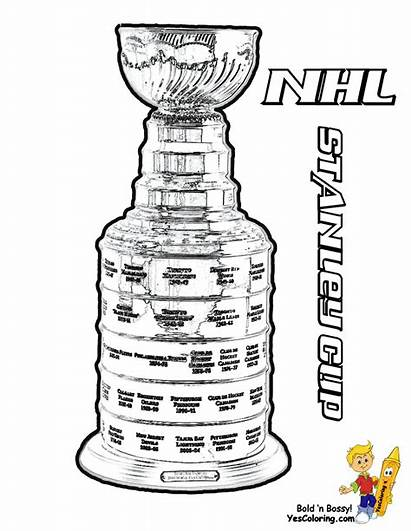Coloring Hockey Pages Trophy Nhl Cup Yescoloring