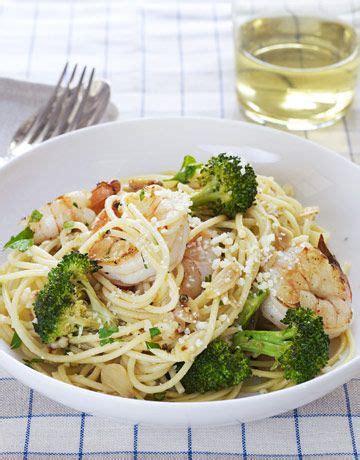 Ina's Spaghetti With Shrimp And Broccoli Broccoli