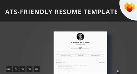 ats friendly resume template format guide sample cv