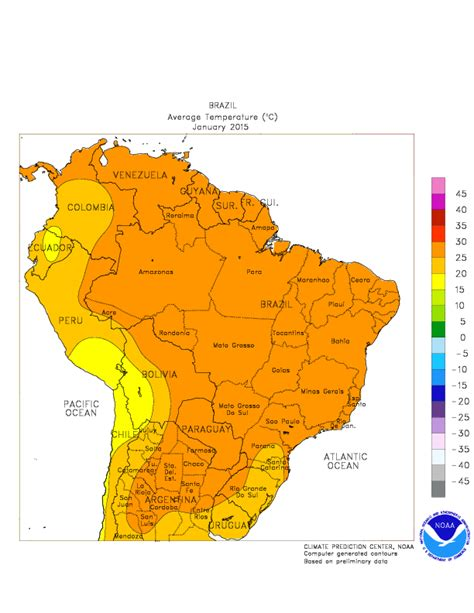 cpc monitoring  data regional climate maps south