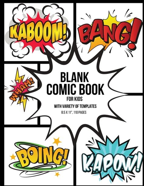 How to plan a graphic novel story and script before you start drawing it. Blank Comic Book for Kids With Variety of Templates ...