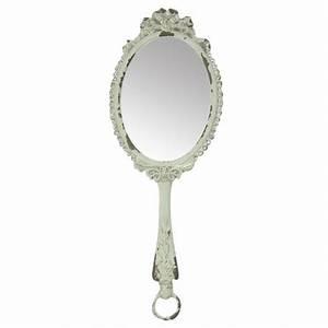 Miroir à Main : miroir main blanc antique par chic antique pour une d co shabby chic ~ Teatrodelosmanantiales.com Idées de Décoration