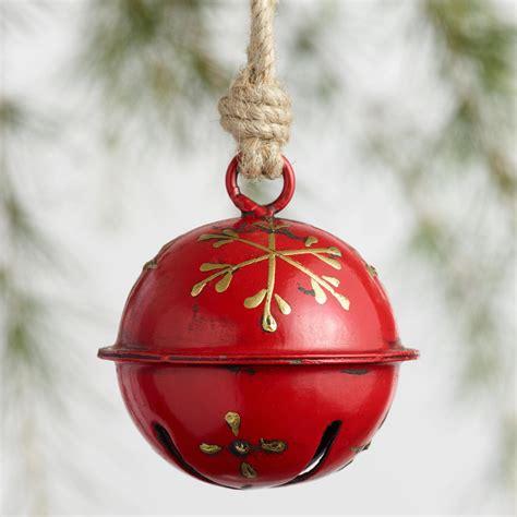 metal alpine jingle bell ornaments set of 2 world market