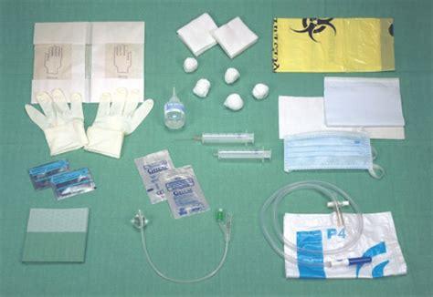 disposet 174 urologie set de soins pour sondage urinaire avec sonde de foley et poche de recueil