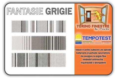 Tende Da Sole Tempotest Catalogo Tessuti Grigi Tempotest