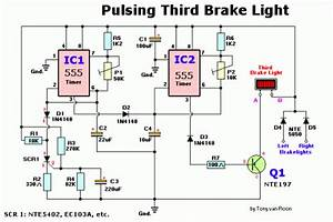 How To Build Pulsing Third Brake Light  Circuit Diagram