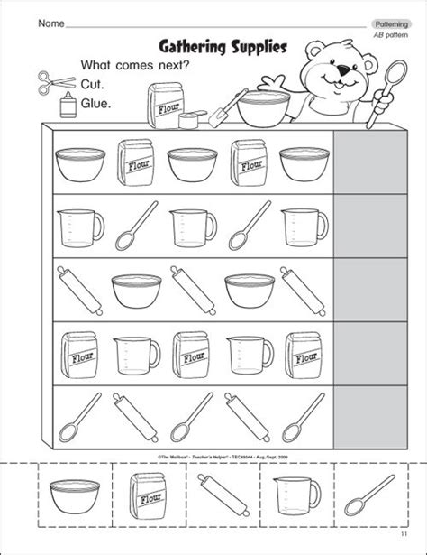pattern worksheets for kindergarten get free preschool grade math worksheets worksheets for