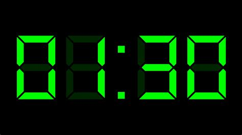 digital clock full time lapse motion background storyblocks video