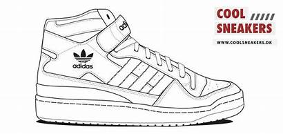 Coloring Adidas Pages Shoes Printable Sneakers Tennis