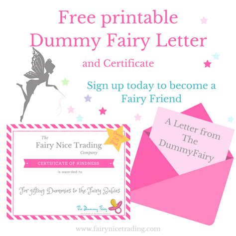 printable dummy fairy letter  fairy nice trading
