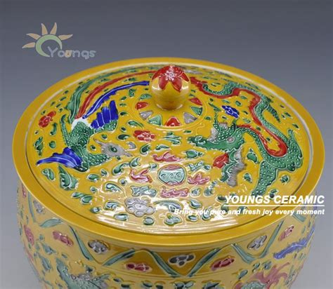 famille yellow glaze pot view pot youngs product