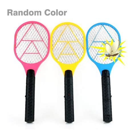 handheld electric tennis racket battery power lightweight mosquito swatter pest bug fly mosquito