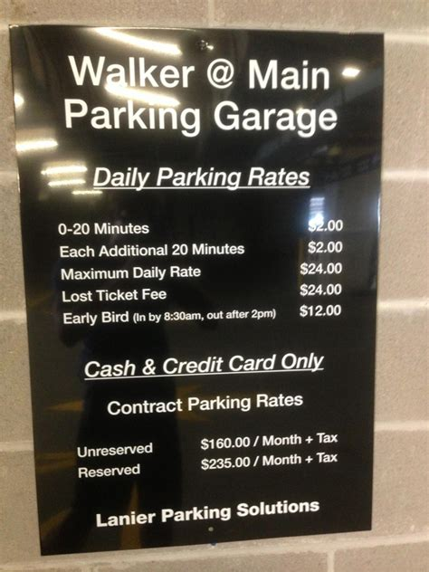 Walker @ Main Parking Garage  Parking In Houston Parkme