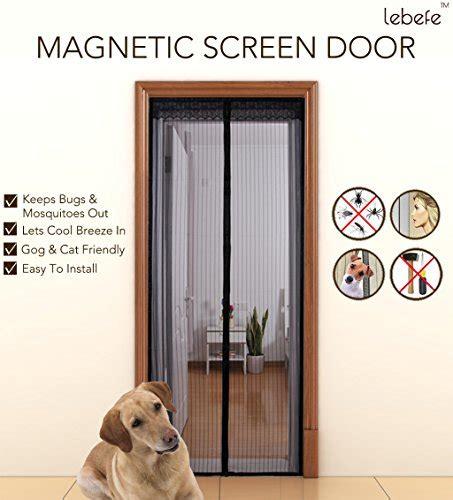 portable screen door lebefe free mesh magnetic screen door with strong