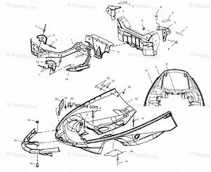 Polaris Snowmobile 2003 Oem Parts Diagram For Nosepan