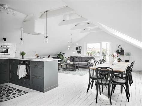 parquet cuisine ouverte simple cuisine quipe avec ilot cuisine gris parquet