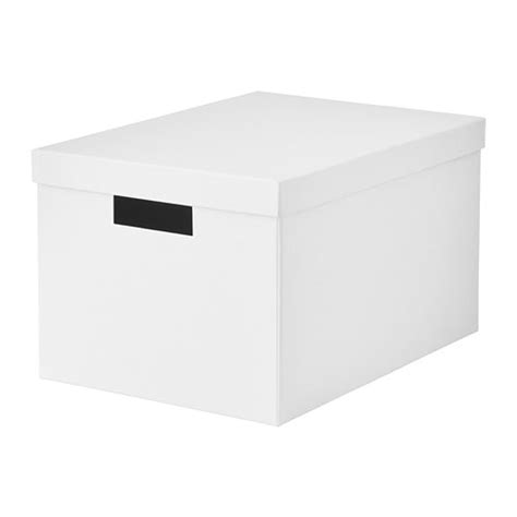 clean kitchen cabinets tjena storage box with lid white 25x35x20 cm ikea