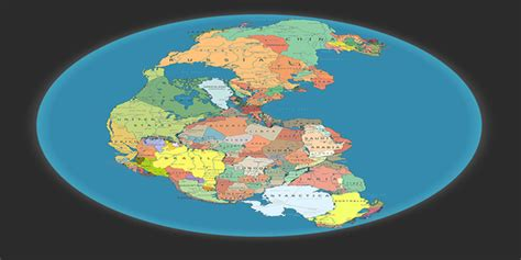 Pangea with modern borders. : geopolitics