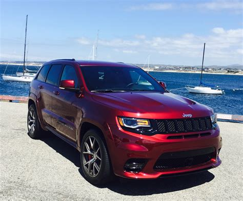 srt jeep red 2017 jeep grand cherokee srt cali roots certified