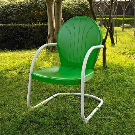 Metal Outdoor Furniture by Green White Outdoor Metal Retro Vintage Style Chair Patio