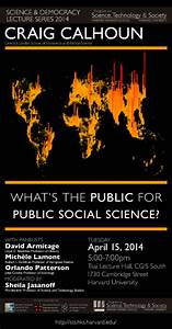 STS Program » Science and Democracy Lecture Series » News ...