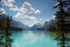 """Maligne Lake, Jasper National Park, Canada"" by Colin"