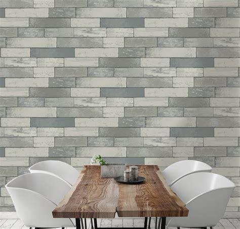 silver effect wood panel metallic effect wallpaper