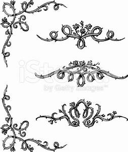 Vine clipart rose thorns - Pencil and in color vine ...