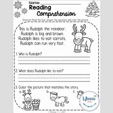Kindergarten Reading Comprehension Passages  Winter  Winnie Kids Products Reading