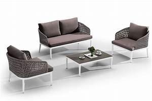 Beistelltisch Für Sofa : carmen garnitur f r den au enbereich aus aluminium mit acryl seile sediarreda ~ Whattoseeinmadrid.com Haus und Dekorationen
