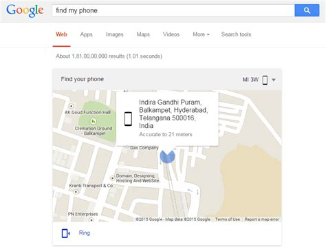 find my android phone on the computer now you can search find my phone to locate your