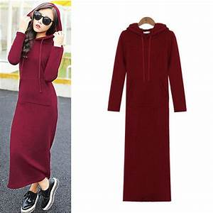 fashion women39s autumn winter fleece hoodie slim bodycon With robe pull capuche