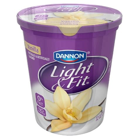 dannon yogurt light and fit dannon light and fit vanilla yogurt from smart
