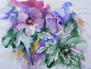 Aquarell Malen Blumen : bl ten und blumen aquarelle aquarelle von hanka frank ~ Articles-book.com Haus und Dekorationen