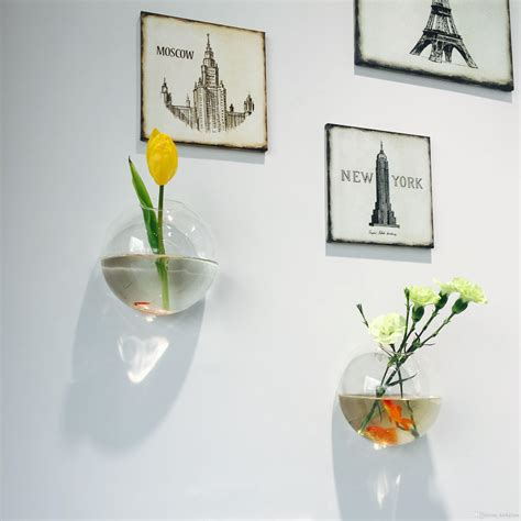 Product Of The Week Wall Hanging Glass Planters by Wall Mini Siamese Fighting Fish Tank Wall Planter Glass