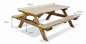 Table Enfant Exterieur : table pique nique en bois robuste pour le jardin chez piscineo ~ Melissatoandfro.com Idées de Décoration