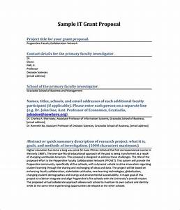 Cover Letter Templates For Words Grant Proposal Template 9 Download Free Documents In