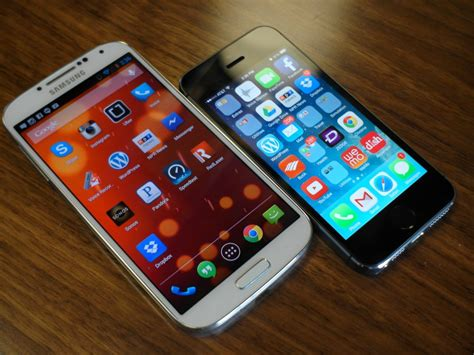 galaxy s4 vs iphone 5s mobile device applications news informationweek