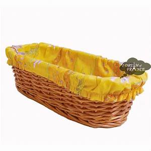 Lavender Yellow Provence Baguette Basket with Removable ...