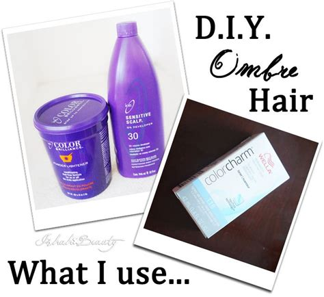 Diy Ombre Bleach Dark Brown Hair To Blonde Without Too
