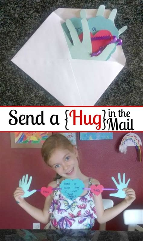Grandparents Day Craft Homemade Hug Greeting Cards
