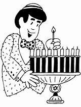 Hanukkah Coloring Pages Menorah Printable Library Clipart sketch template