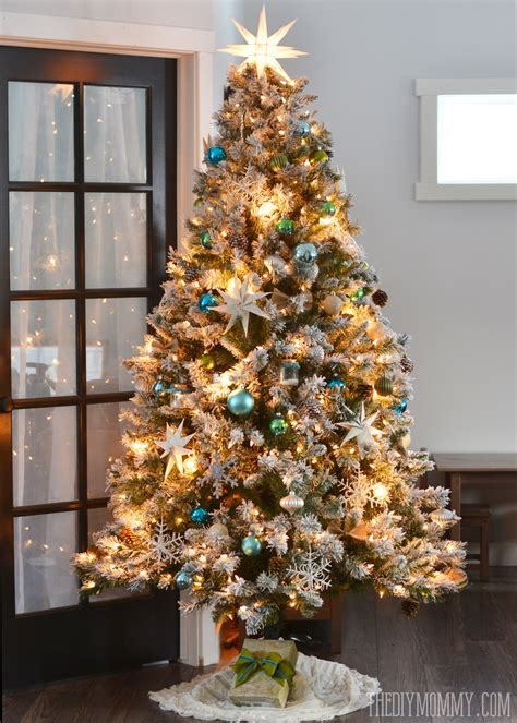 heavy flocked christmas tree clearance decor make your home more cozy with flocked tree for decoration ideas