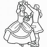 Coloring Dance Pages Ballroom sketch template